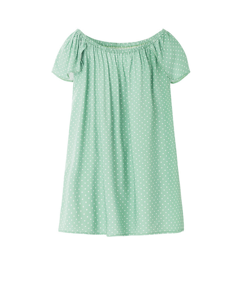 OFF-SHOULDER TOP (GREEN)