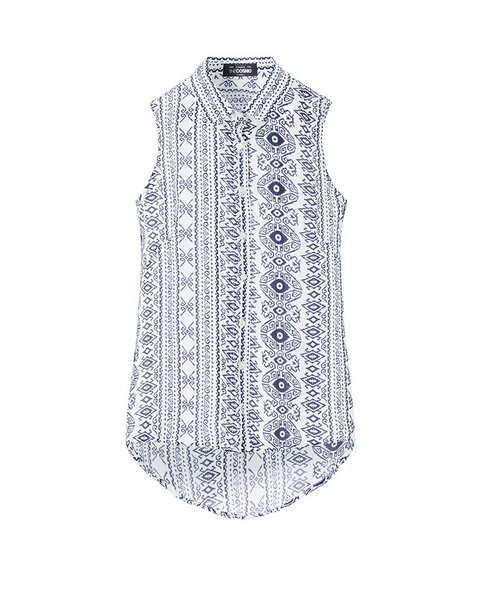 SLEEVELESS BLOUSE (TRIBAL)
