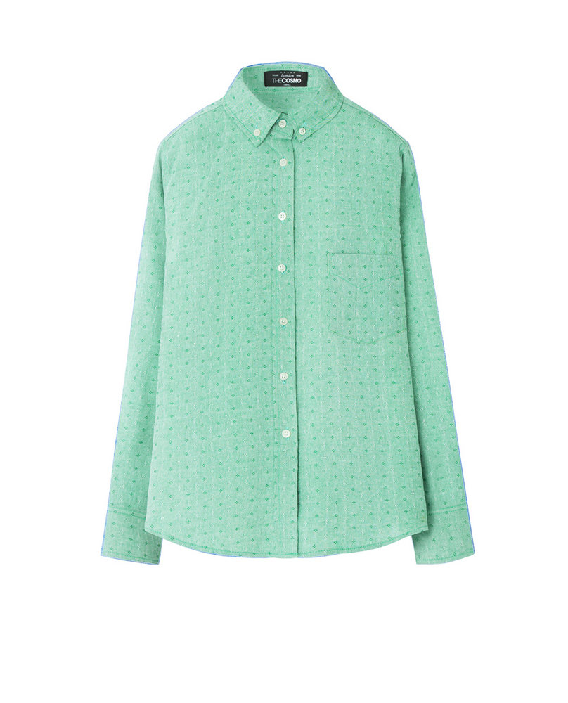 PRINTED OXFORD (GREEN)