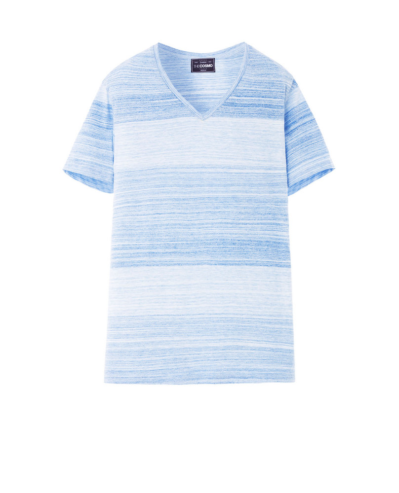 COTTON BLEND TEE (LIGHT BLUE)