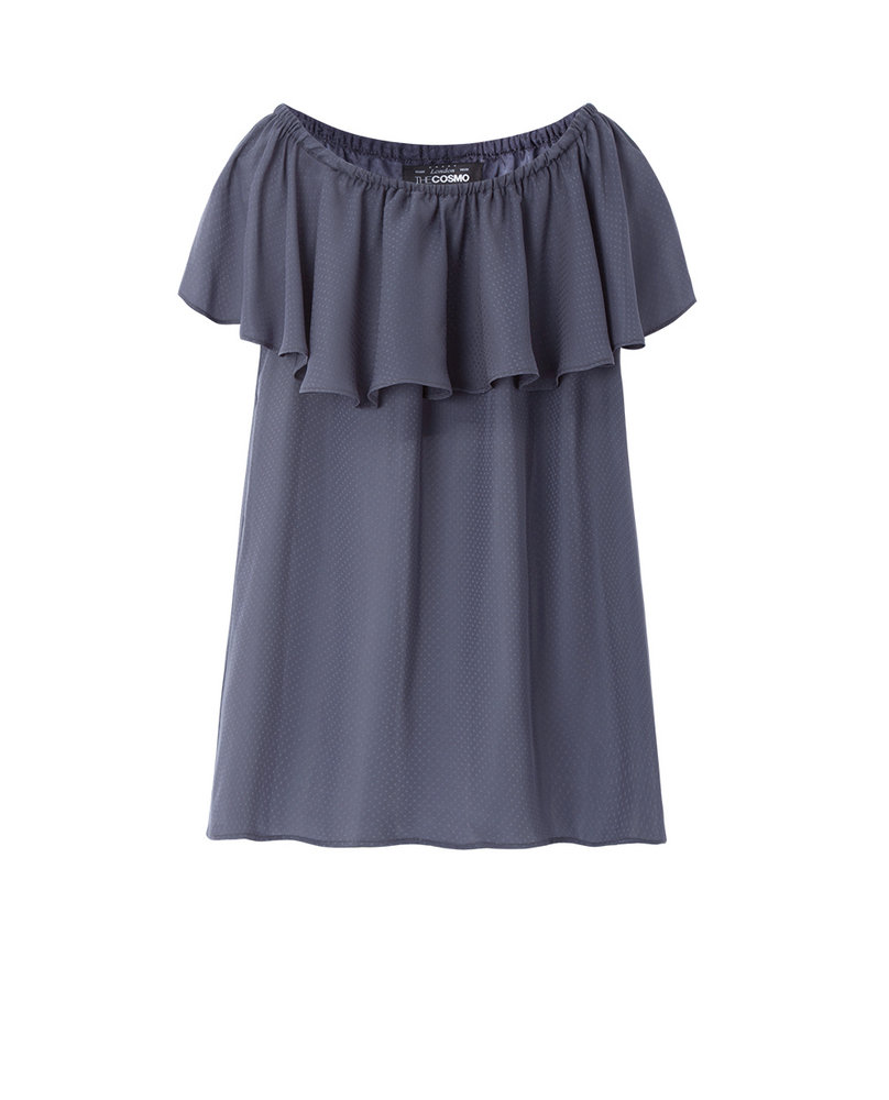 OFF-SHOULDER TOP (DARK GREY)