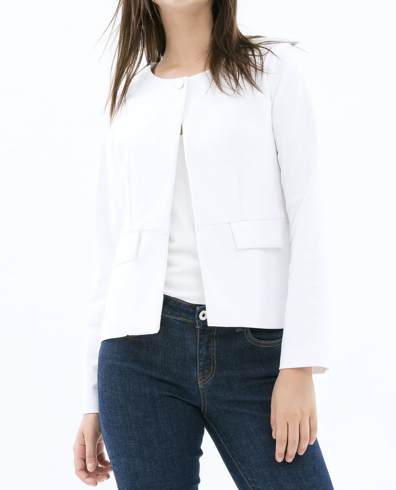BUTTON JACKET (WHITE)