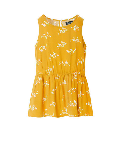 RUFFLE TANK TOP (YELLOW)