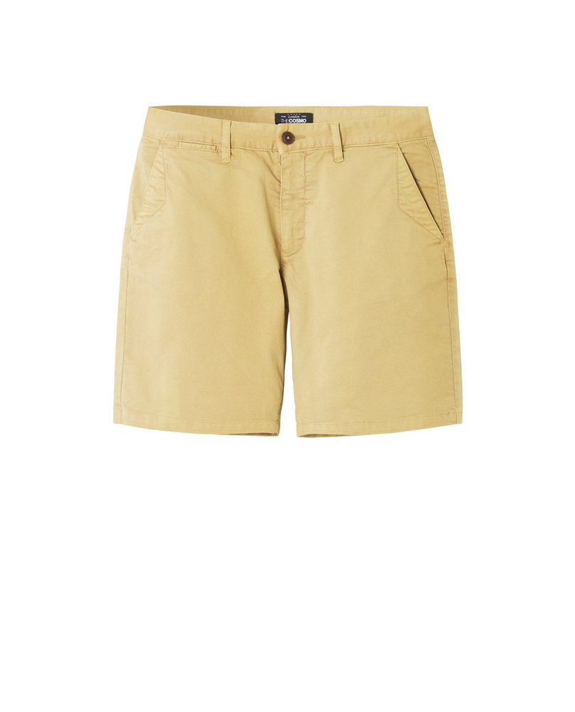 GARMENT-DYED SHORTS (BEIGE)