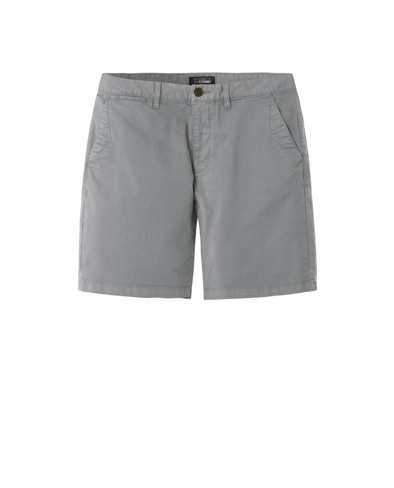 GARMENT-DYED SHORTS (GREY)