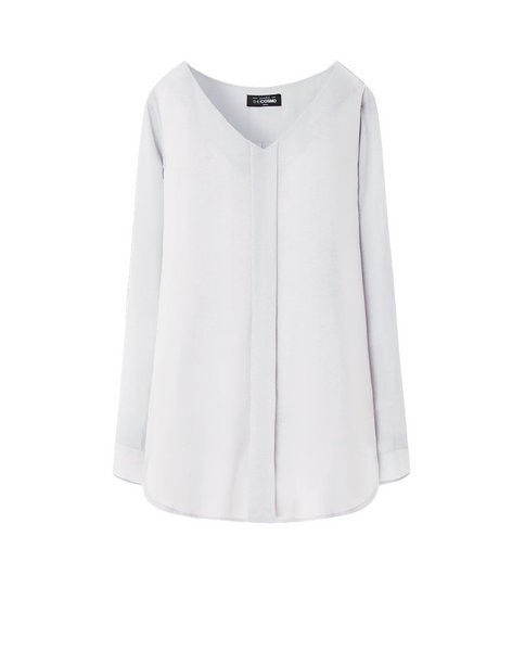 OVERSIZED BLOUSE (LIGHT GREY)
