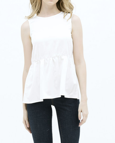 RUFFLE TANK TOP (WHITE)