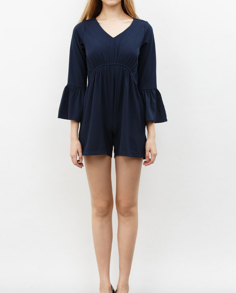 BELL SLEEVE JUMPSUIT (NAVY)