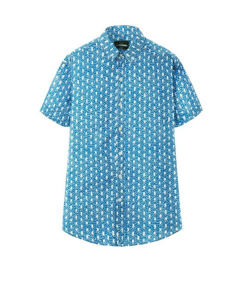 PRINTED SHIRT (AZURE)