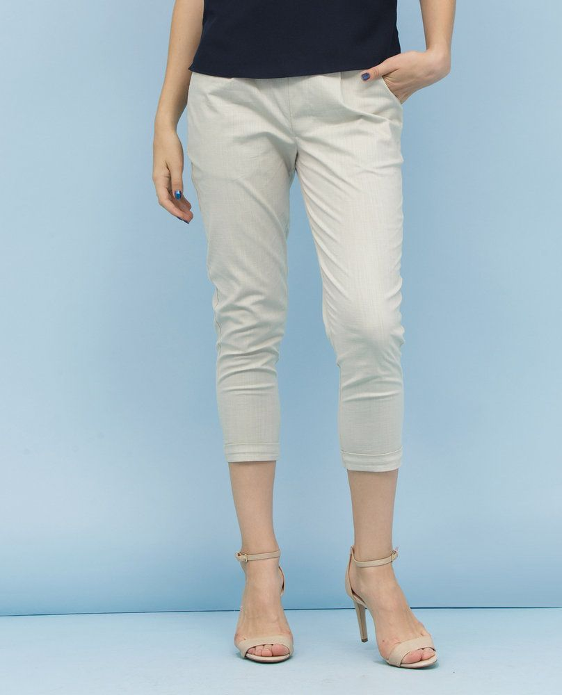 CROPPED TROUSERS (BEIGE)