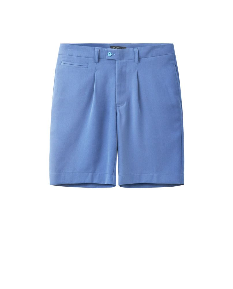 SHORTS WITH PLEAT (SKY)