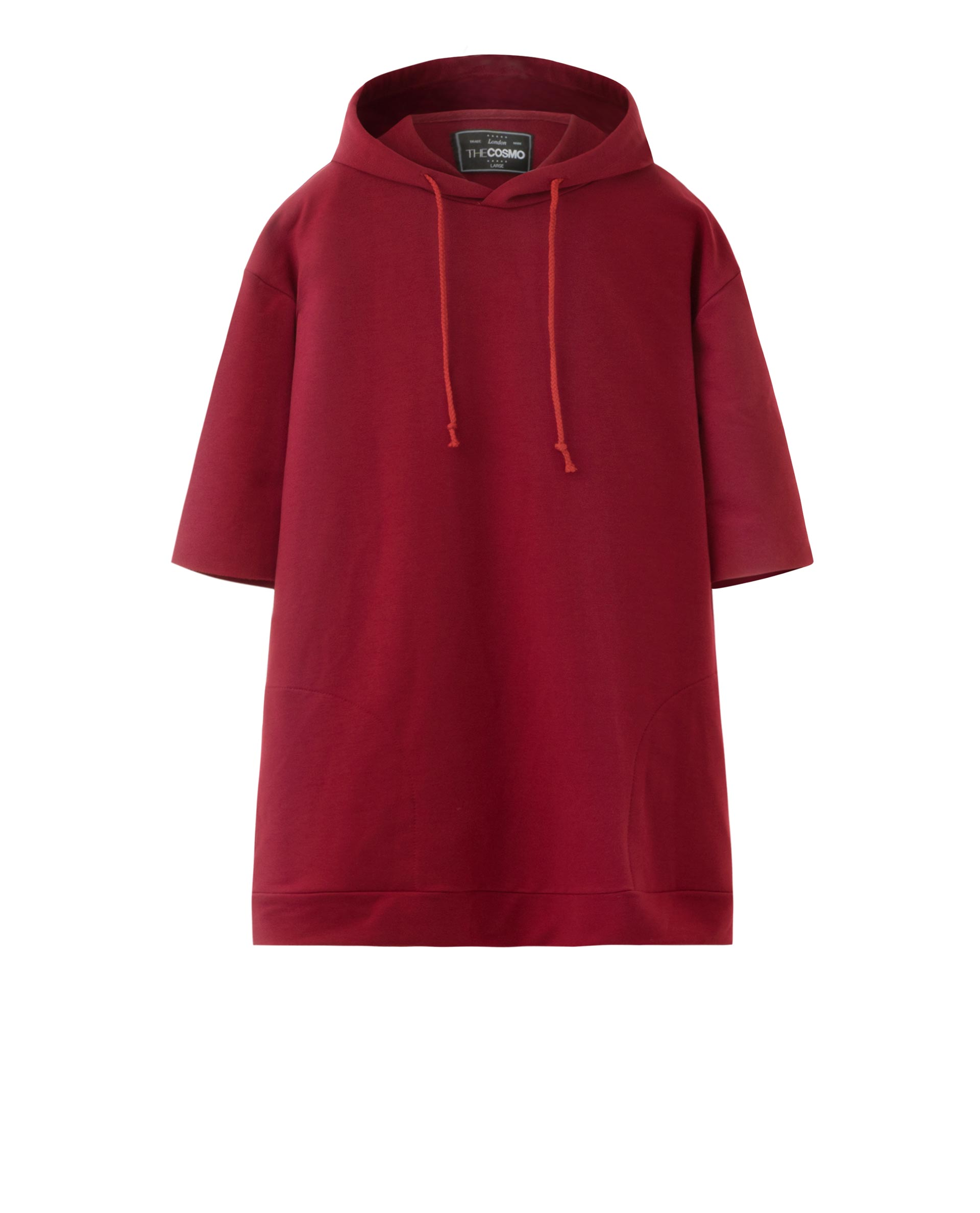 SHORT SLEEVE HOODY (RED)