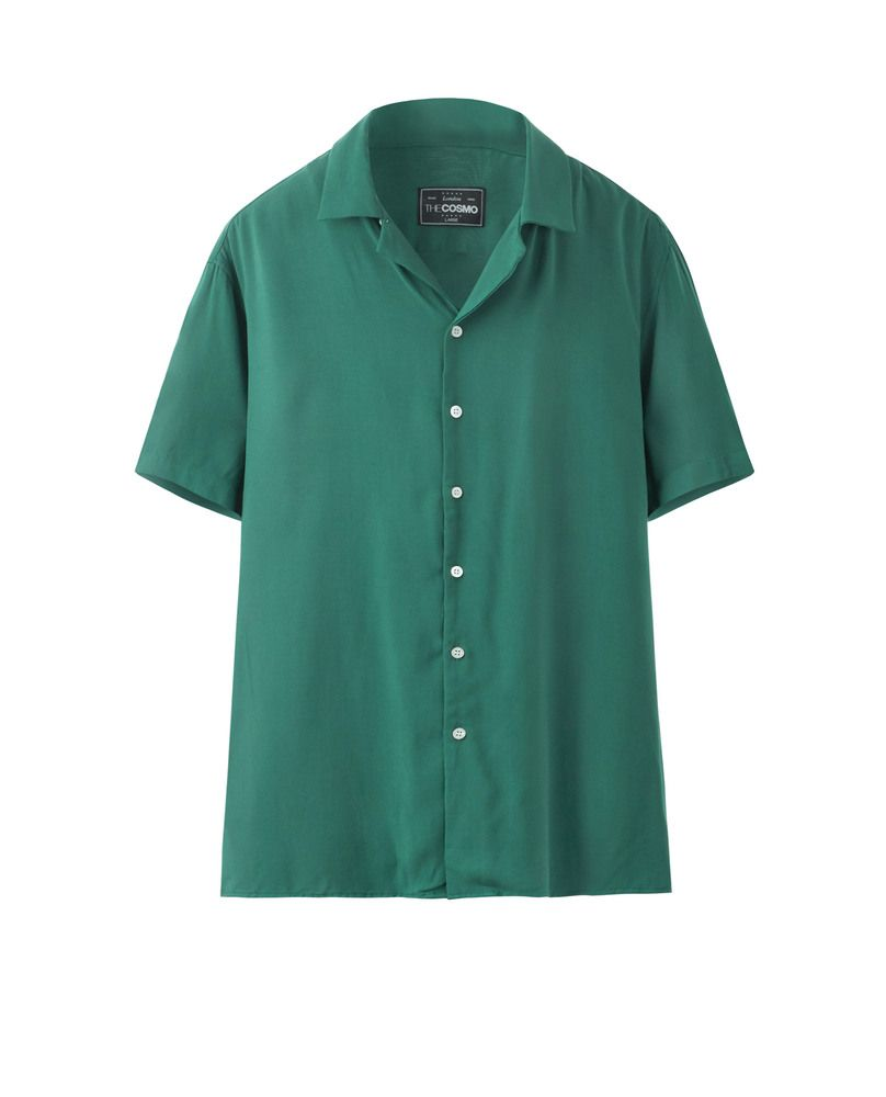 SOLID VISCOSE SHIRT (GREEN)