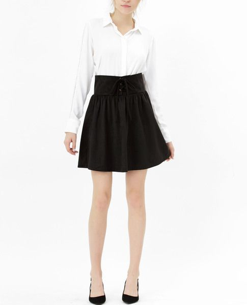 LACE-UP SKIRT (BLACK)