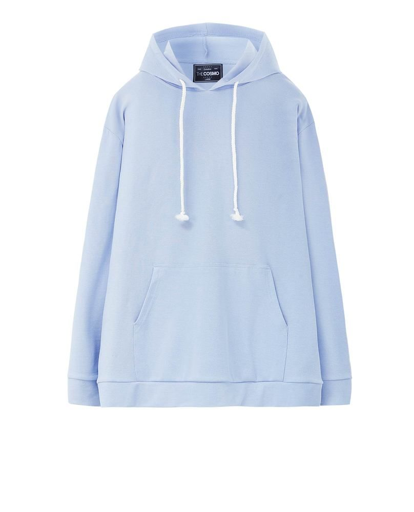 SWEATSHIRT WITH POUCH POCKET (SKY)