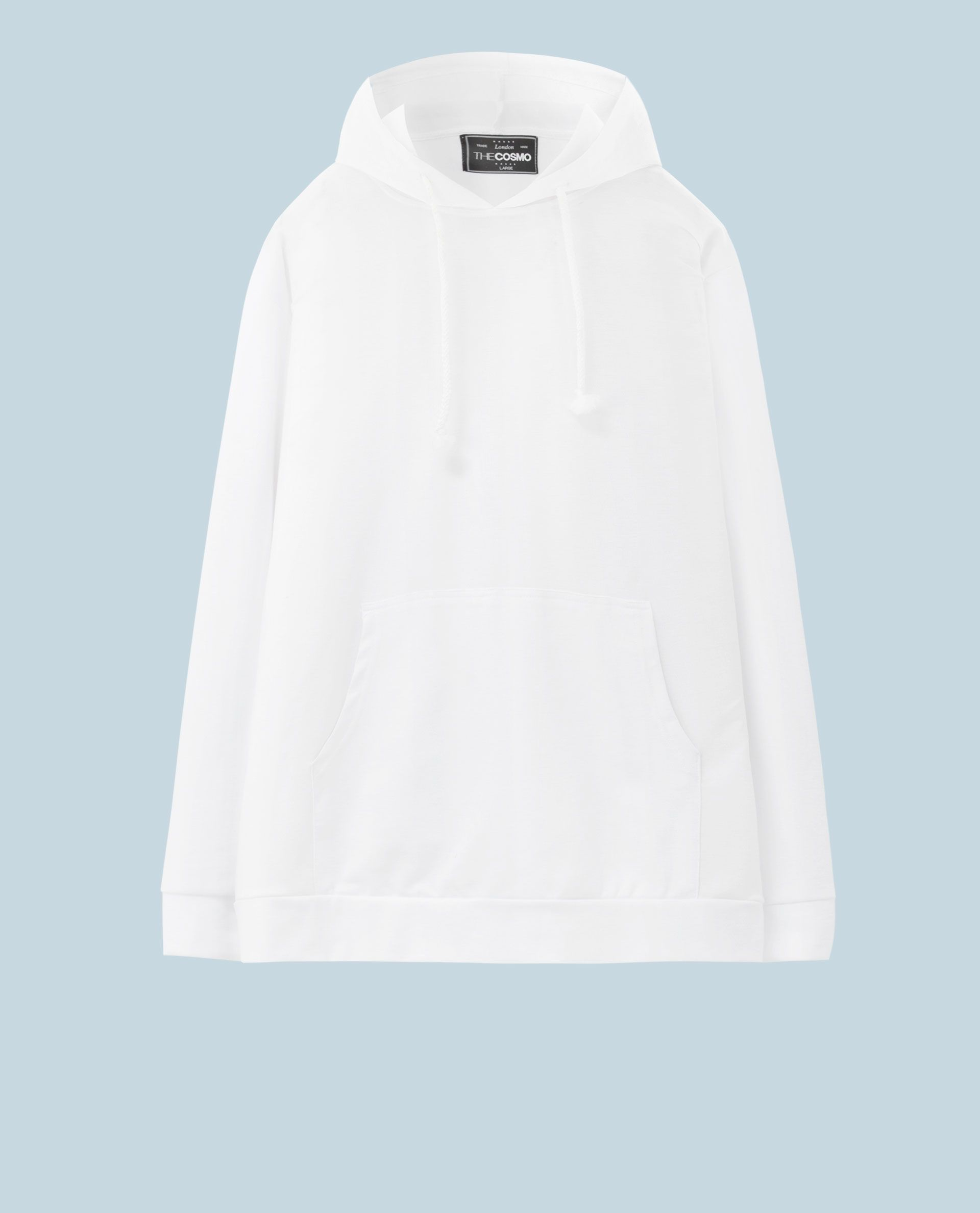 SWEATSHIRT WITH POUCH POCKET (WHITE)