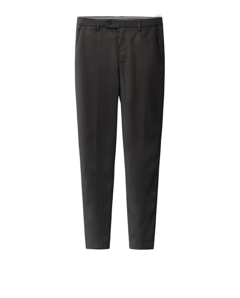 SLIM-FIT SUIT TROUSERS (BLACK)