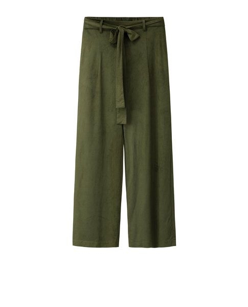 FAUX SUEDE CULOTTES (MOSS)