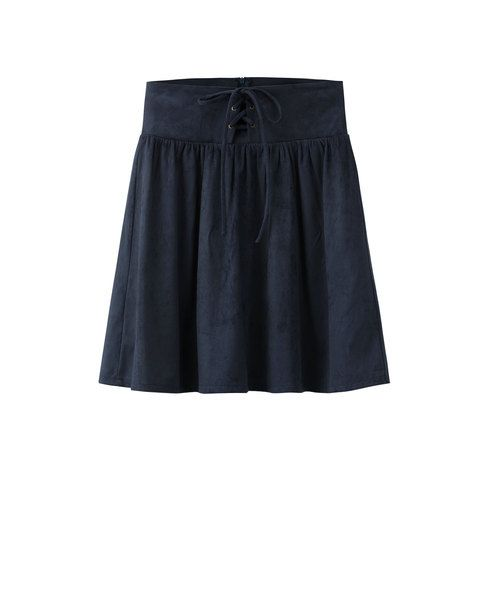 LACE-UP SKIRT (NAVY)