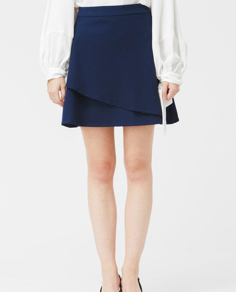 DOUBLE LAYER SKIRT (NAVY)