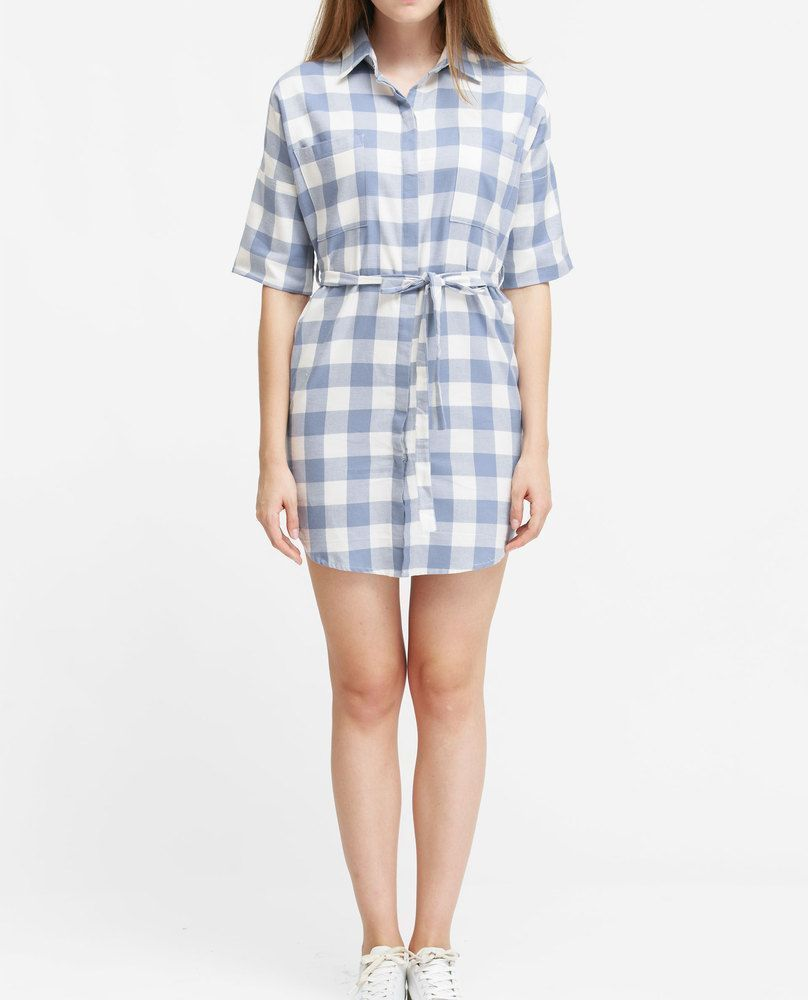 SHIRT DRESS (BABY BLUE)