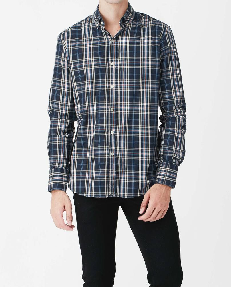 CHECKED SHIRT (WALNUT)