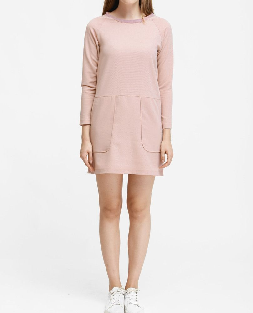 SWEAT DRESS (PINK)