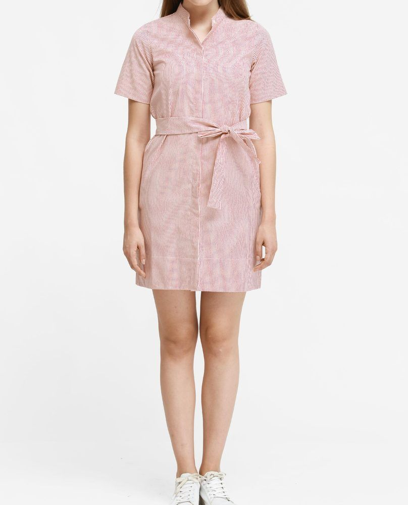 MANDARIN COLLAR DRESS (PEACH)