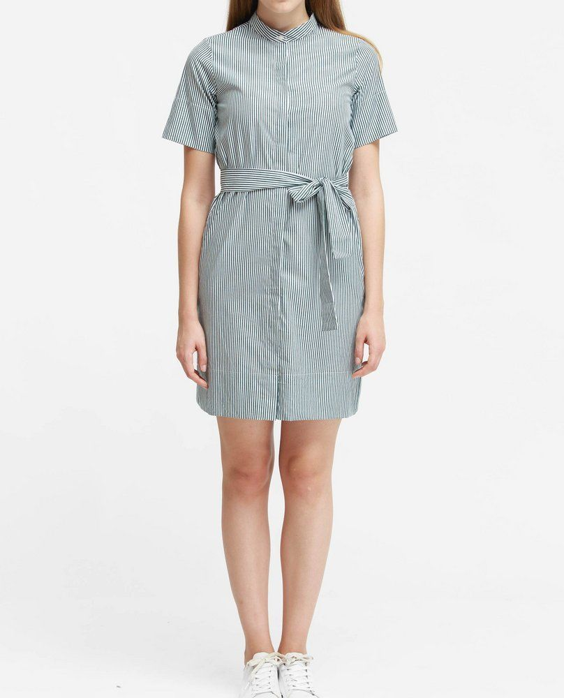 MANDARIN COLLAR DRESS (GREEN)