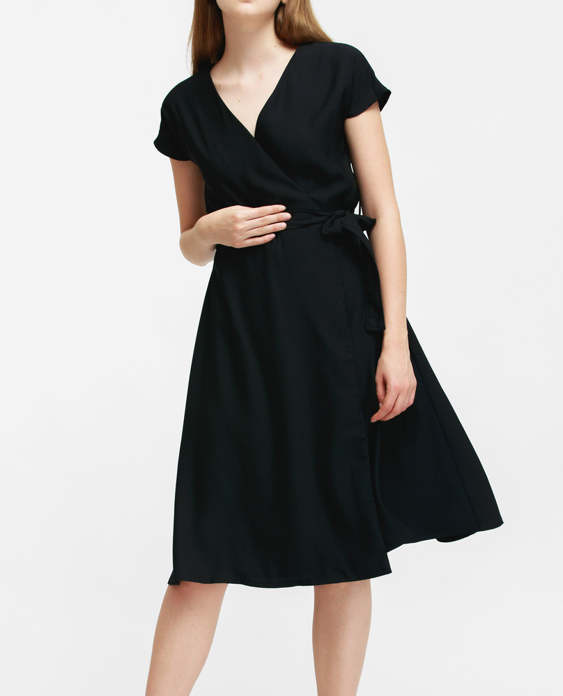 WRAP DRESS (BLACK)