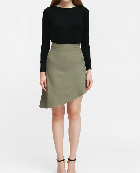ASYMMETRIC SKIRT (SAND)