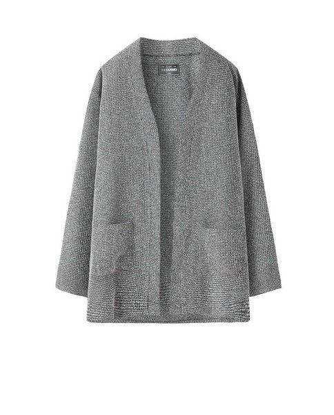 TEXTURED CARDIGAN (COAL)