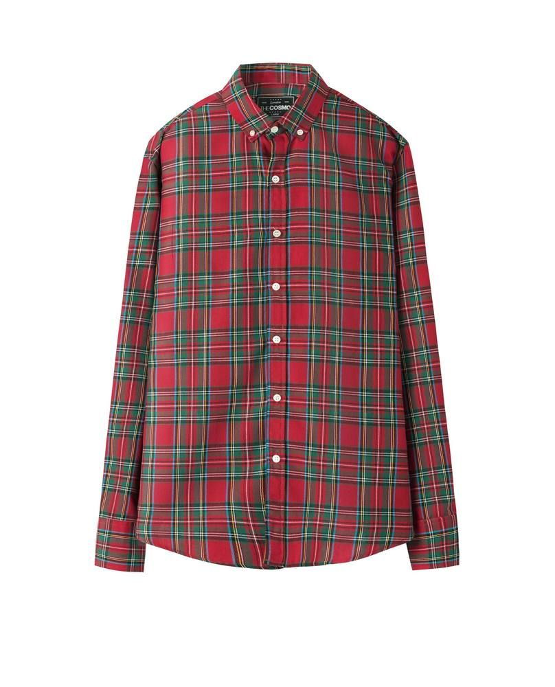 CHECKED SHIRT (BURGUNDY)