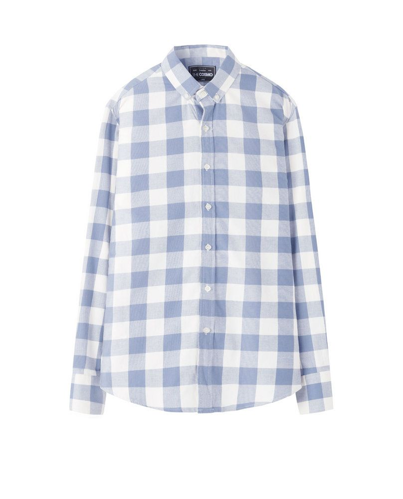 CHECKED SHIRT (BABY BLUE)