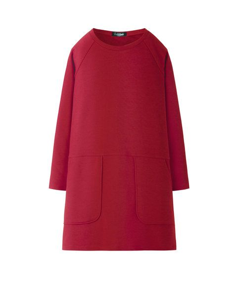 SWEAT DRESS (BURGUNDY)