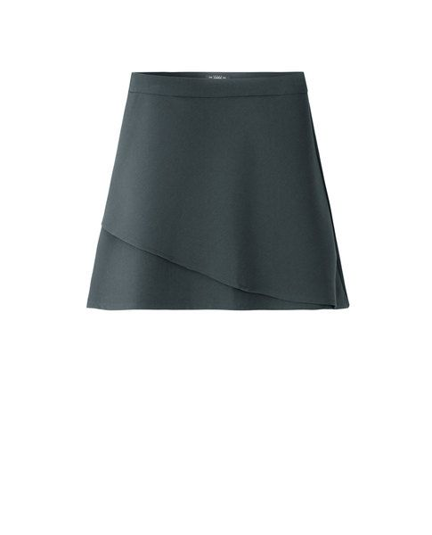 DOUBLE LAYER SKIRT (GREY)