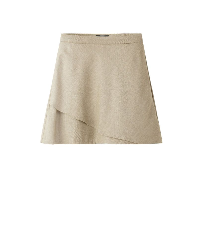DOUBLE LAYER SKIRT (BEIGE)