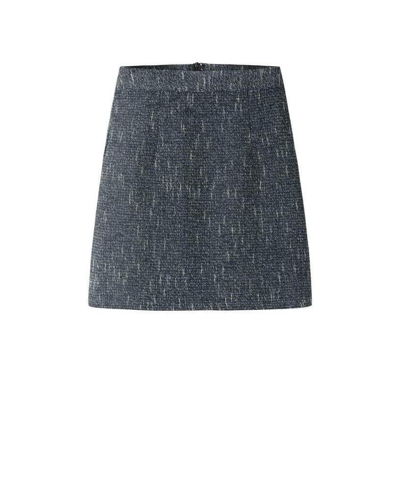 TWEED SKIRT (CHARCOAL)