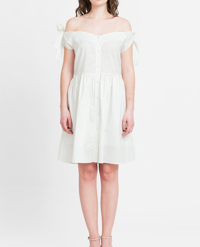 OFF-SHOULDER DRESS (WHITE)