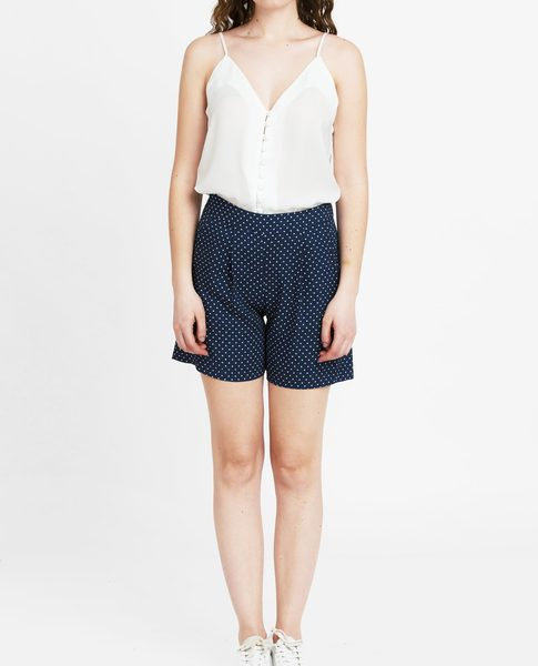 VISCOSE SHORTS (NAVY)