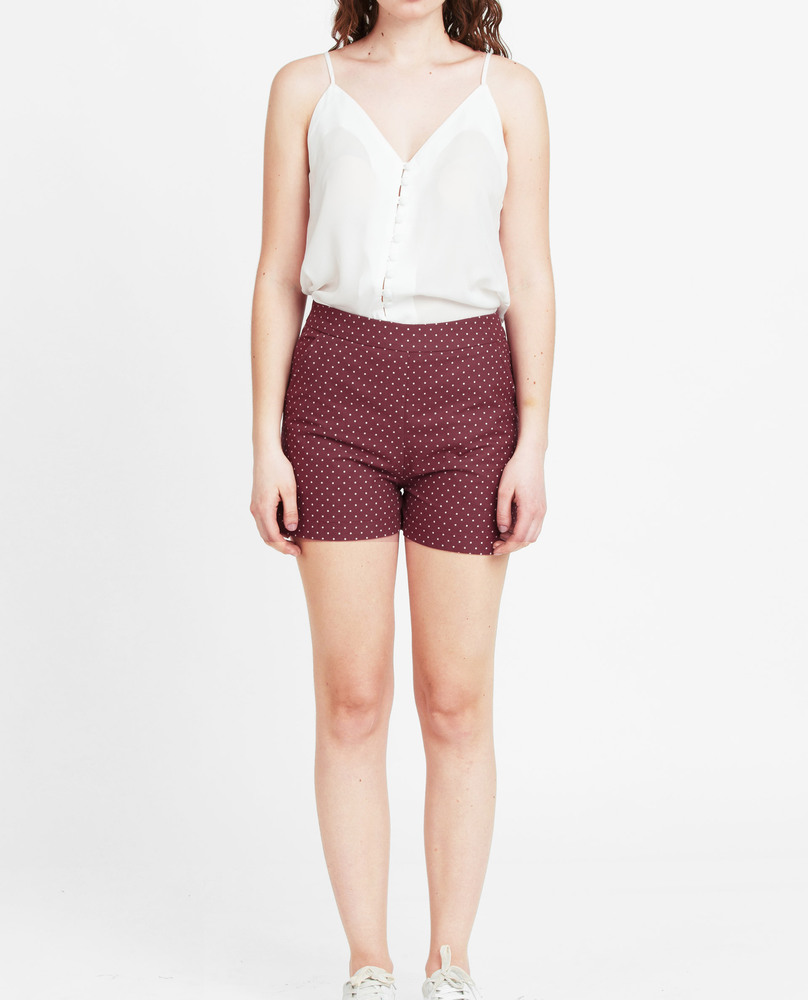 CHINO SHORTS (WINE)