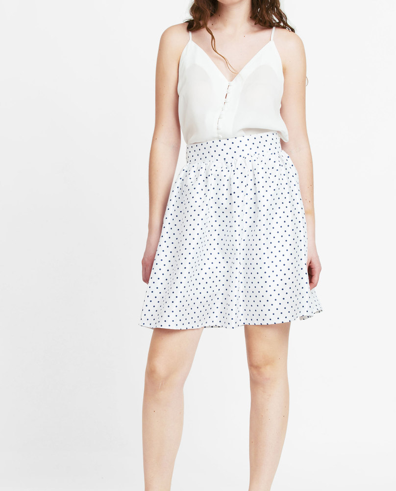 PRINTED SKIRT (WHITE)