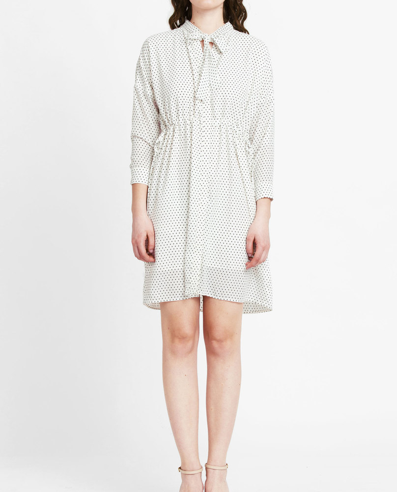 POLKA DOT DRESS (SNOW)