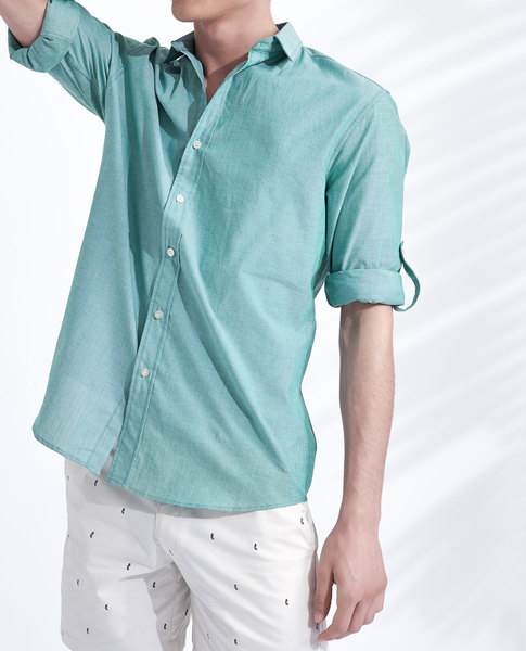 ROLL UP SHIRT (AQUA)