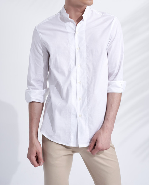 MAO COLLAR SHIRT (ECRU)