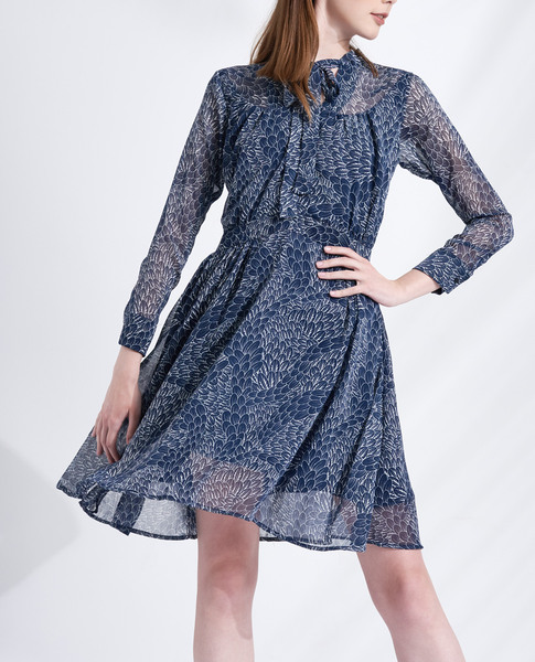 FLORAL FLOWY DRESS (BLUE)