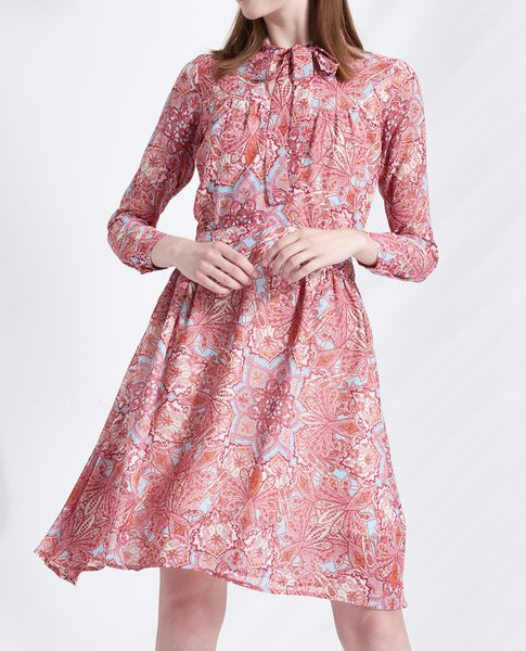 FLORAL FLOWY DRESS (ROSE)