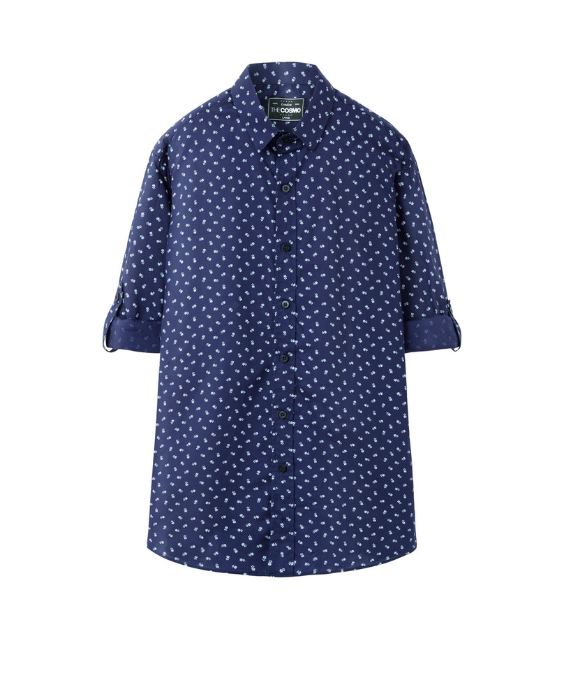 ROLL UP SHIRT (NAVY)