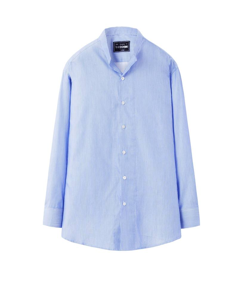 MAO COLLAR SHIRT (STRIPE)