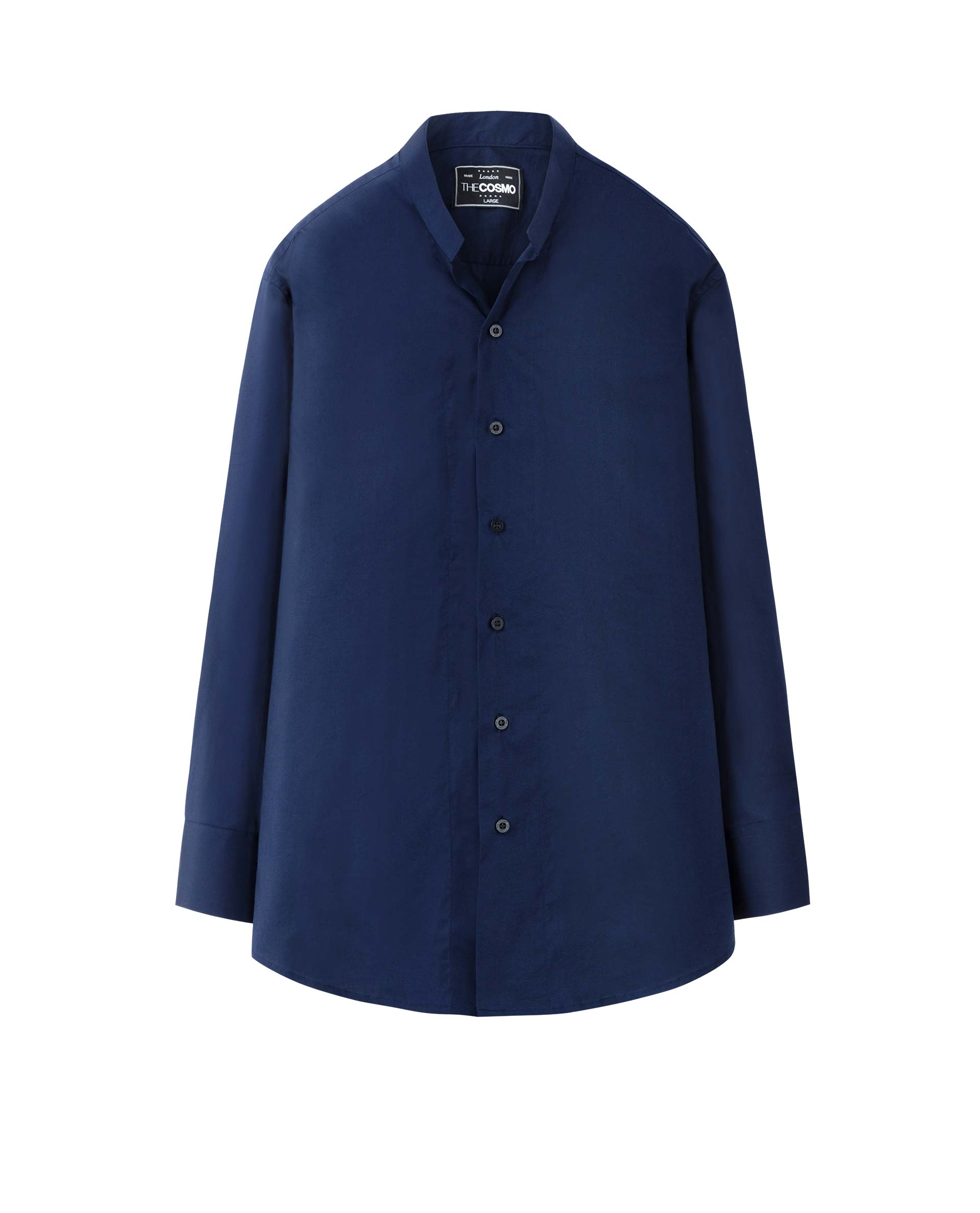 MAO COLLAR SHIRT (NAVY)